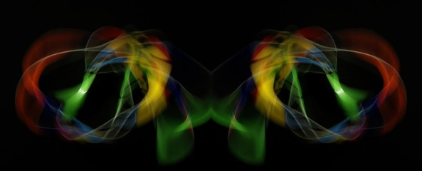 Art Photography, light painting against a black background on November 2008 in Berlin, Germany