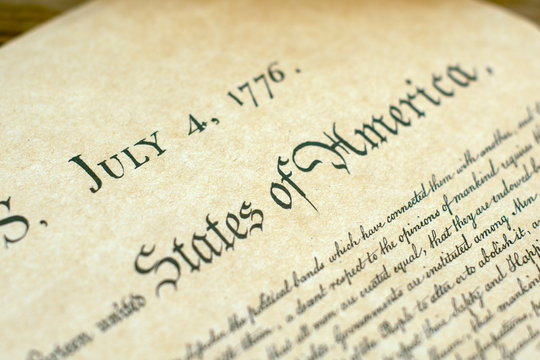 an excerpt from the copy of the document in 1776 about America's independence