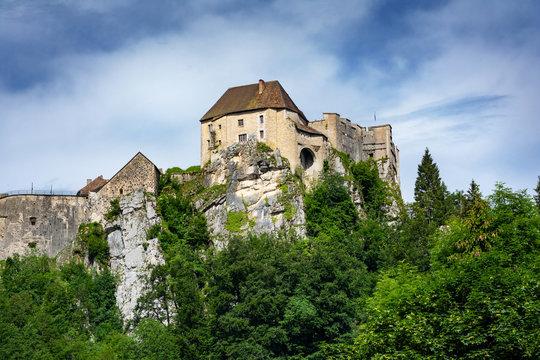 Château de Joux à La Cluse-et-Mijoux, Déparement Doubs