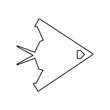 war plane icon. Element of Army plane for mobile concept and web apps icon. Outline, thin line icon for website design and development, app development