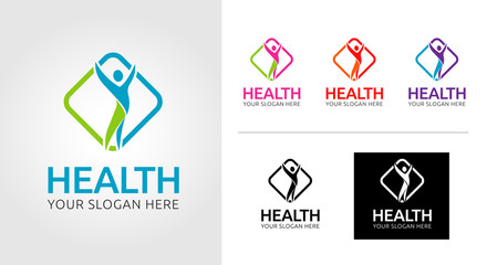 Health Leaf Logo Template