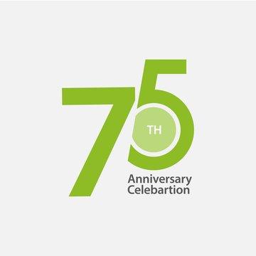 75 th Anniversary Celebration Vector Template Design Illustration