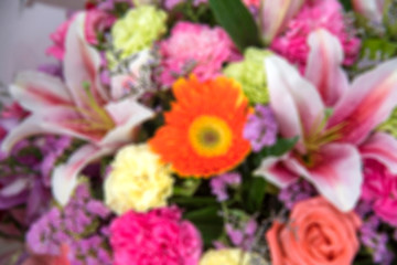 Blurred images of beautiful flowers for background