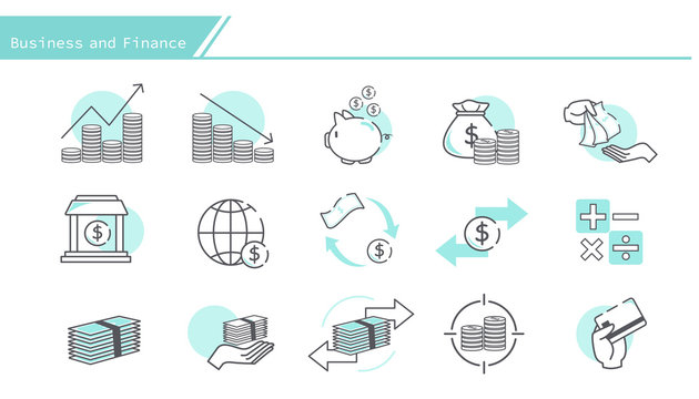 business and finance design element