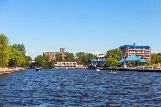 Mouth of St Joseph river, St Joseph Michigan, on a summer day