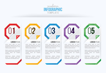 Business infographics design vector and marketing icon, workflow layout, diagram, web design Fototapete