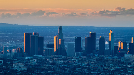 Blue Dawn in Downtown Los Angeles
