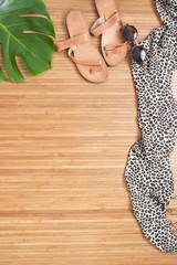 Female summer accessories background