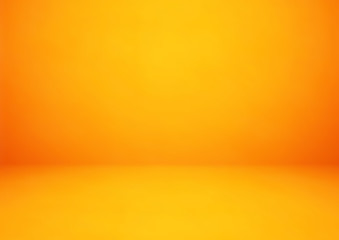 Wall Mural - Empty orange studio room vector background. Can be used for display or montage your products