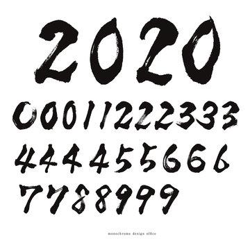 筆文字 数字 syodo number