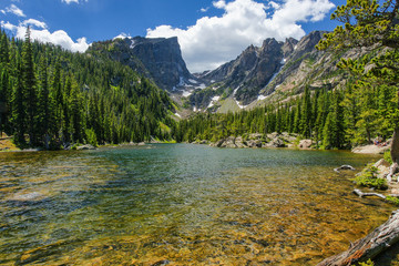 Dream Lake in Rocky Mountain National Park in Colorado, United States