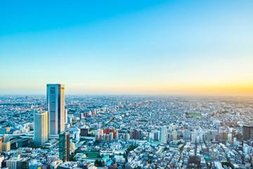 Fototapete - skyline aerial view of shinjuku in Tokyo, Japan