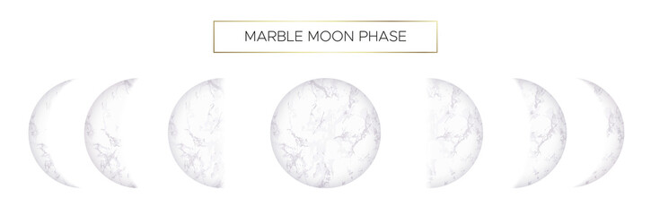 Moon phases of beautiful marble texture