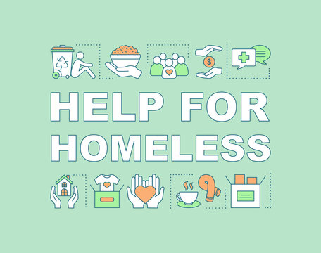 Help for homeless word concepts banner