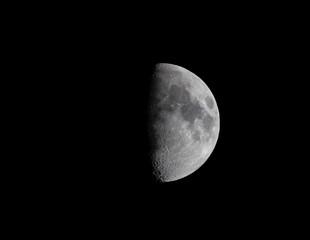 Clear half moon