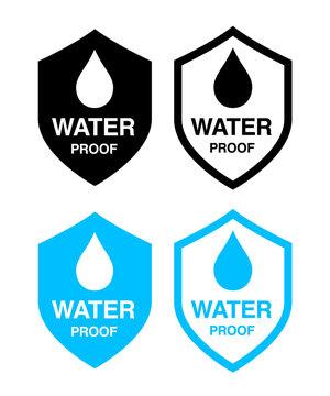 waterproof icon set