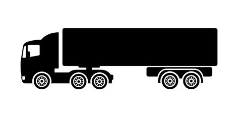 Obraz samochód ciężarowy ikona - fototapety do salonu