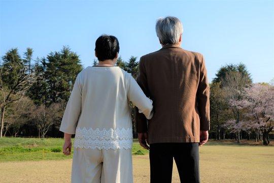 老夫婦のポートレート