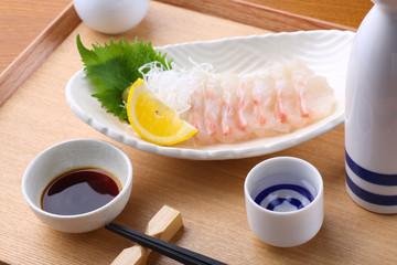 日本酒と刺身