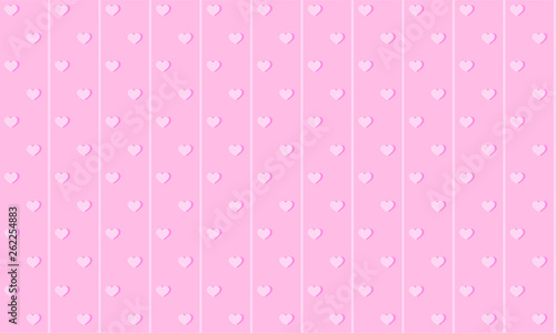 Girlish Pink Cute Background With Lines And Small Hearts Backdrop