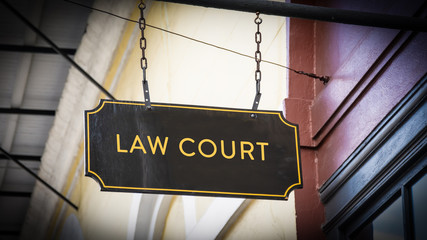 Street Sign Law Court