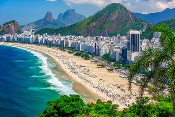 Copacabana beach in Rio de Janeiro, Brazil. Copacabana beach is the most famous beach of Rio de Janeiro, Brazil Fototapete