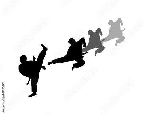 karate,taekwondo kick logo vector illustration template