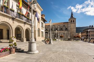 Church of San Eutropio in El Espinar in the province of Segovia in the natural park of Guadarrama (Castilla y León, Spain)