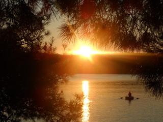 Foto op Plexiglas Asia land Sonnenuntergang an der Adria