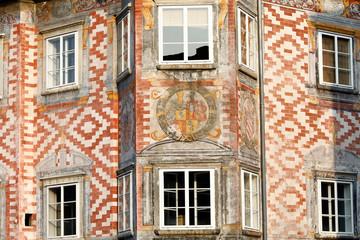 Fototapete - Mittelalterliches Bürgerhaus, Wels