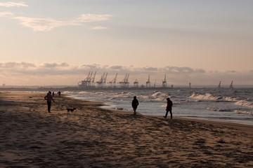 Zachód słońca nad morzem - Polska, Gdańsk, Górki Zachodnie
