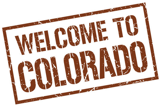 welcome to Colorado stamp