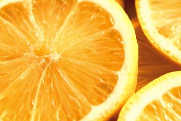Keuken foto achterwand Plakjes fruit Lemon slices closeup