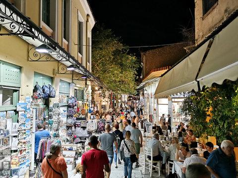 Athens Street at night