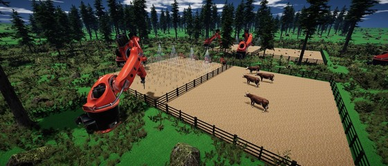 Farming Automation - extremely detailed and reailstic high resolution 3D illustration