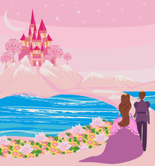 princess with prince in a magical land