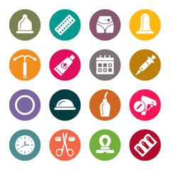Obraz Contraception icon set - fototapety do salonu