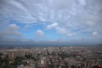Panorámica de la ciudad de Barcelona. Pije urbano.