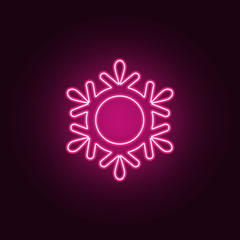 snowflake icon. Elements of Web in neon style icons. Simple icon for websites, web design, mobile app, info graphics