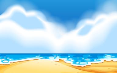 An empty beach scene