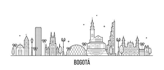 Bogota skyline Distrito Capital Colombia a vector