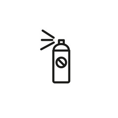 Insect repellent line icon