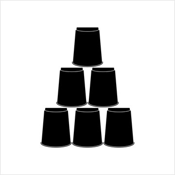 Stack Cups Icon, Cup Stacking
