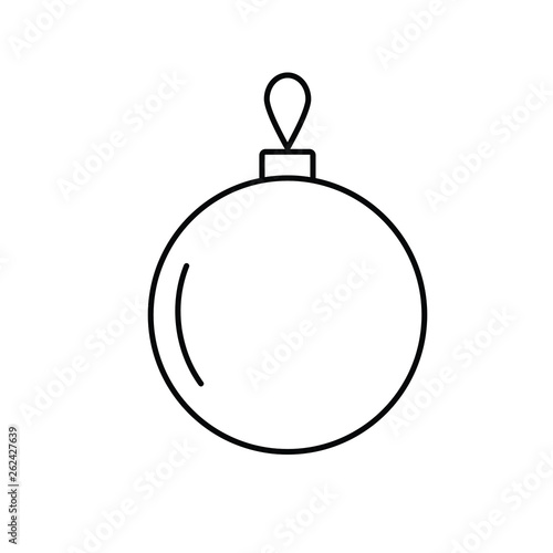 Christmas Bauble outline icon  linear style sign for mobile concept