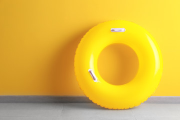 Inflatable ring near color wall