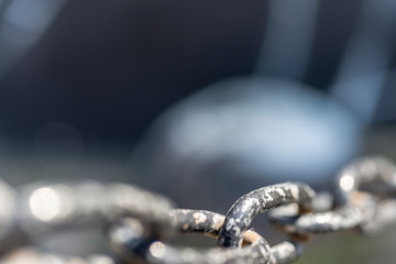 Chain on a blurred background