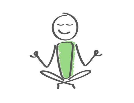 Stick Figure - Man Yoga Relax
