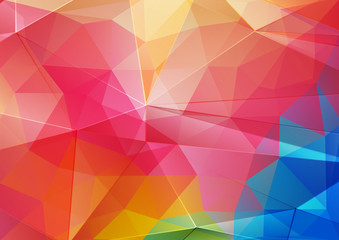 Red Green and blue bright color background with triangle shapes for web design