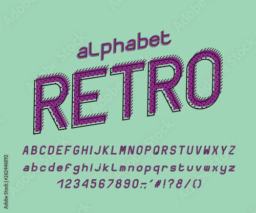 Italic Alphabet multi layer design  Vector letters and