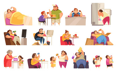 Gluttony Icons Set